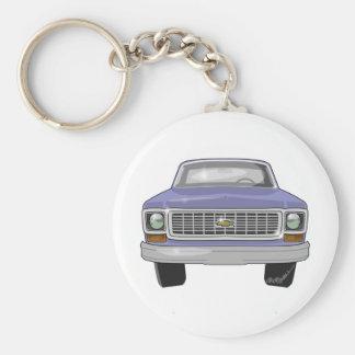 1974 Chevrolet Pickup Basic Round Button Key Ring