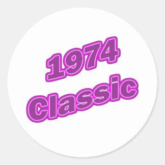 1974 Classic Purple Round Sticker