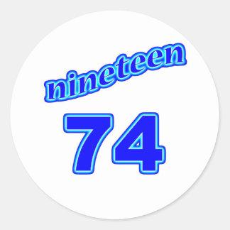 1974 Nineteen 74 Stickers