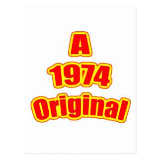 1974 Original Red Postcard