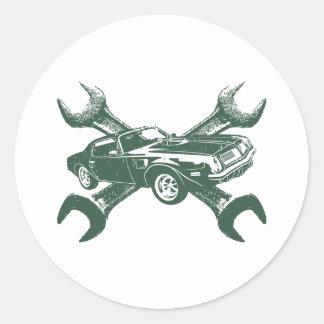 1974 Pontiac Firebird 455 Trans Am Classic Round Sticker