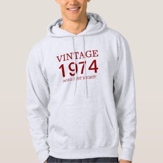 1974 vintage aged just right hoodie