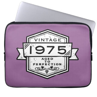 1975 Aged To Perfection Laptop Computer Sleeve