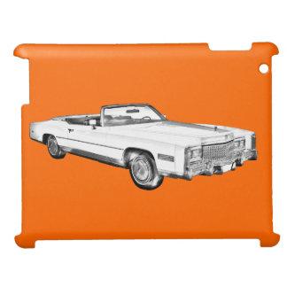 1975 Cadillac Eldorado Convertible Illustration iPad Cases