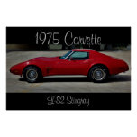 1975 Corvette Stingray L-82 Poster