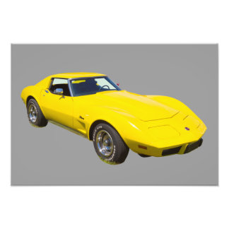 1975 Corvette Stingray Sports Car Photographic Print