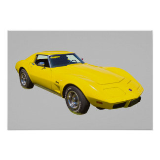 1975 Corvette Stingray Sports Car Poster