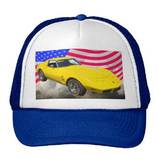 1975 Corvette Stingray With American Flag Cap