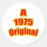 1975 Original Red Round Stickers