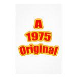 1975 Original Red Stationery