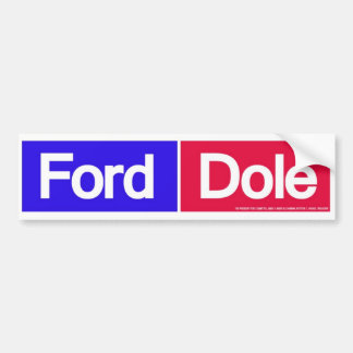 1976 Ford Dole For President Bumper Sticker