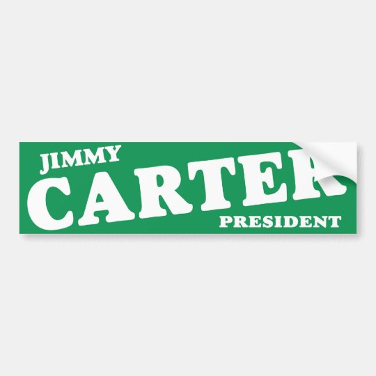 1976 Jimmy Carter President Vintage Bumper Sticker