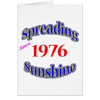 1976 Spreading Sunshine Greeting Card
