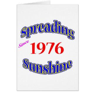 1976 Spreading Sunshine Greeting Card