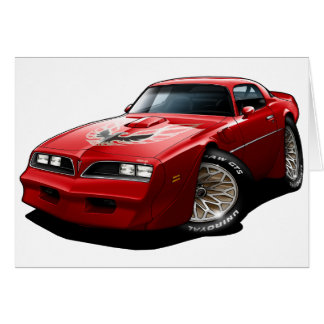 1977-78 Trans Am Red Greeting Card
