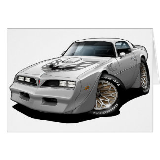 1977-78 Trans Am White Greeting Card