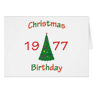 1977 Christmas Birthday Cards