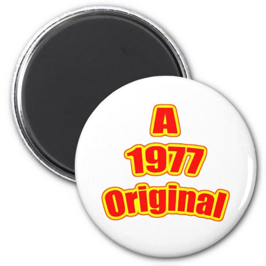 1977 Original Red 6 Cm Round Magnet