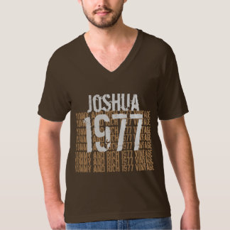1977 Vintage Birthday Yummy and Rich Custom Name T-Shirt