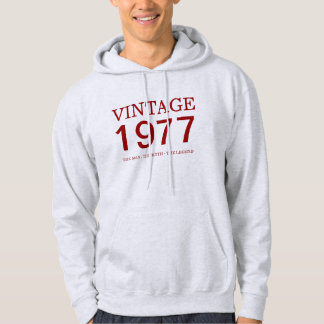 1977 vintage  the man, the myth, the legend hoodie