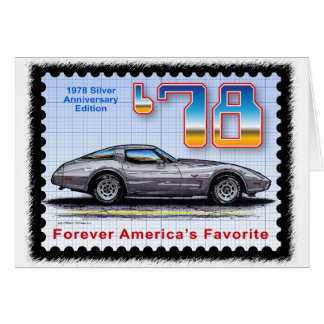 1978 Silver Anniversary Edition Corvette Greeting Cards