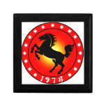 1978 Year of the Horse Small Square Gift Box