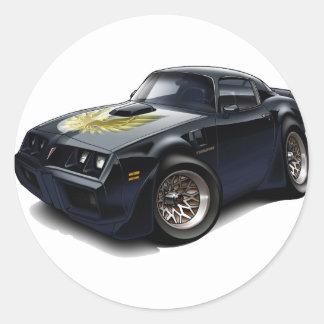 1979-81 Trans Am Black Car Round Sticker