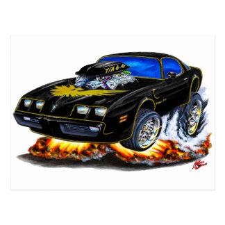 1979-81 Trans Am Black-Gold Car Postcard