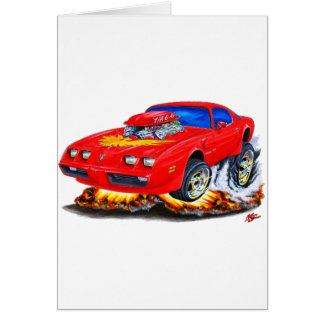 1979-81 Trans Am Red Car Greeting Card