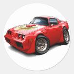 1979-81 Trans Am Red Car Round Sticker