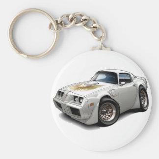 1979-81 Trans Am White Car Key Ring