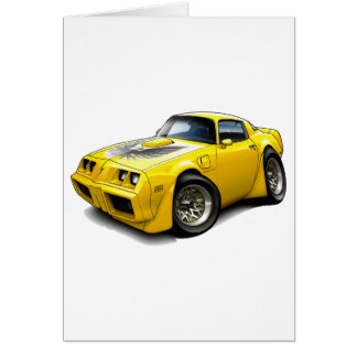 1979-81 Trans Am Yellow Car Greeting Card