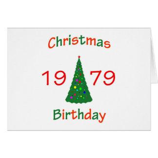 1979 Christmas Birthday Greeting Card