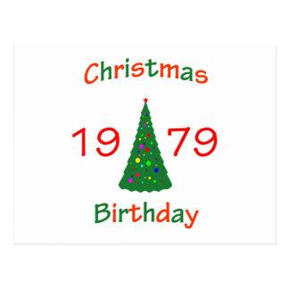1979 Christmas Birthday Postcard