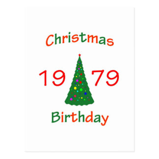 1979 Christmas Birthday Postcard