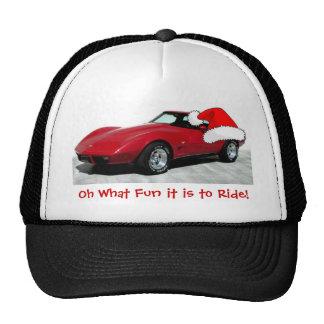 1979 Christmas Red Corvette Hats