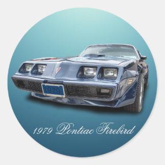 1979 PONTIAC FIREBIRD ROUND STICKER