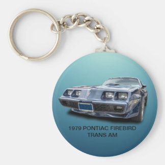 1979 PONTIAC FIREBIRD TRANS AM BASIC ROUND BUTTON KEY RING
