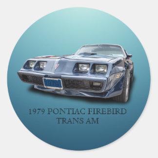 1979 PONTIAC FIREBIRD TRANS AM CLASSIC ROUND STICKER