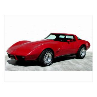 1979 Red Corvette Classic Postcard