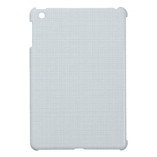 197 LIGHT BLUE GREY GRAY NOTEBOOK SQUARES PLAID PA CASE FOR THE iPad MINI