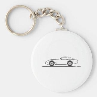 1980-82 Chevrolet Corvette Basic Round Button Key Ring