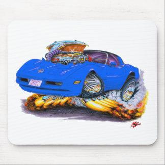 1980-82 Corvette Blue Car Mouse Pad