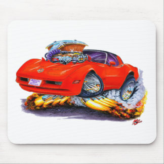 1980-82 Corvette Red Car Mouse Mat
