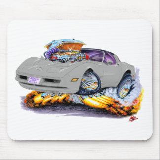 1980-82 Corvette Silver Car Mouse Pad