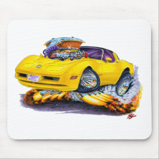 1980-82 Corvette Yellow Car Mouse Mat
