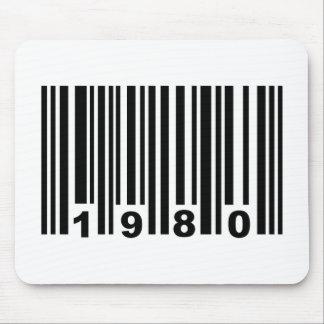 1980 barcode mousepad