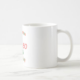 1980 Christmas Birthday Classic White Coffee Mug