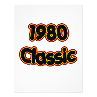 1980 Classic 21.5 Cm X 28 Cm Flyer