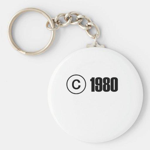 1980 Copyright Key Chain